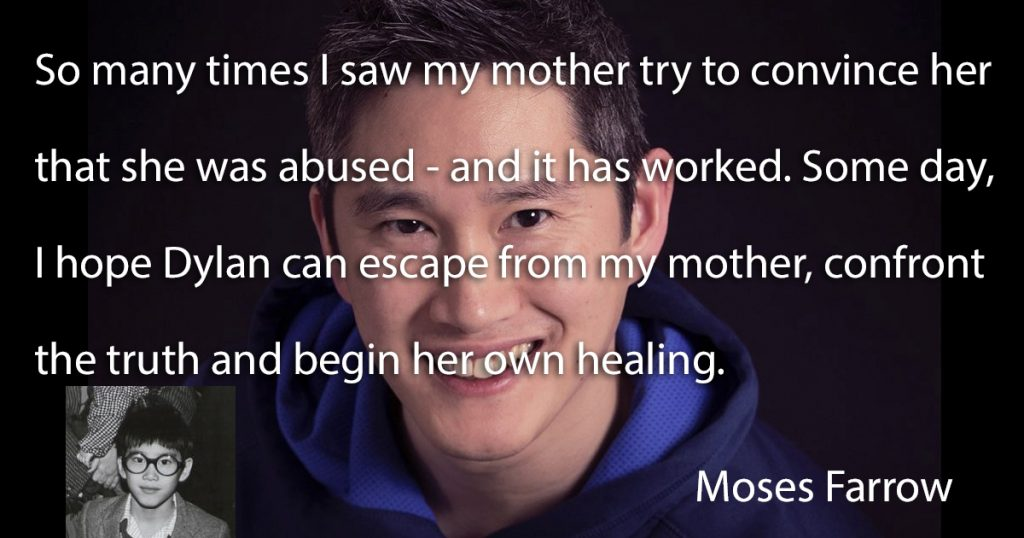 Moses Farrow says his mother, Mia Farrow convinced Dylan that she was abused