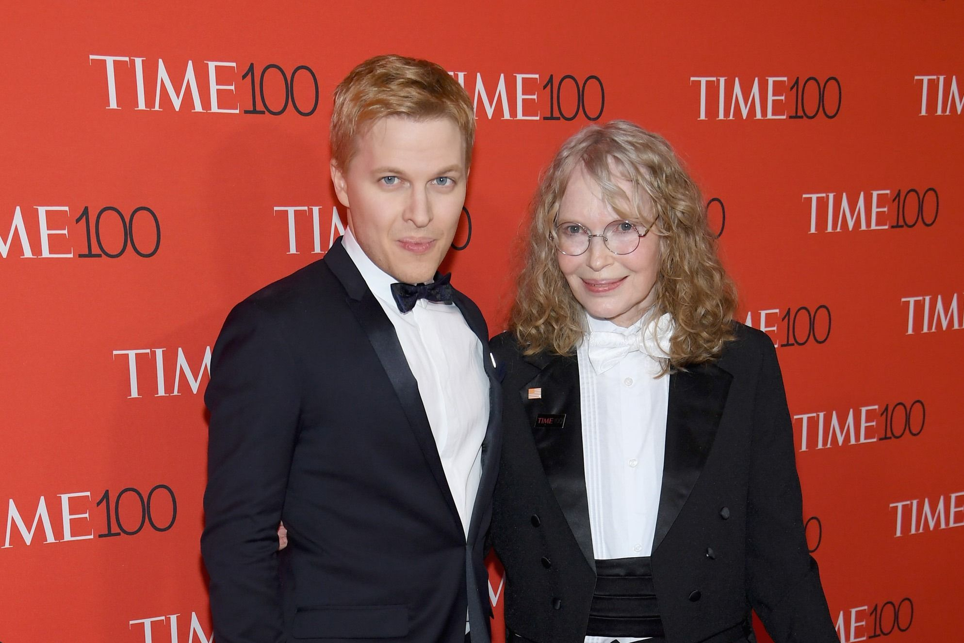 Ronan Farrow and Mia Farrow at the Time 100 most influential people