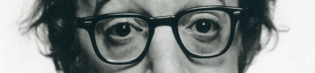 Woody Allen, close-up eyes