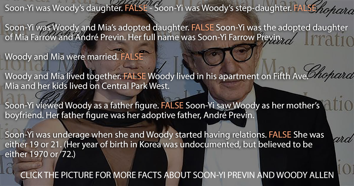 The facts about Woody Allen and his wife Soon-Yi Previn