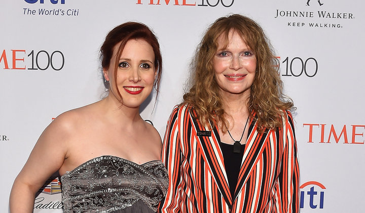 Dylan Farrow and Mia Farrow attend 2016 Time 100 Gala, Time's Most Influential People In The World on April 26, 2016 in New York City.