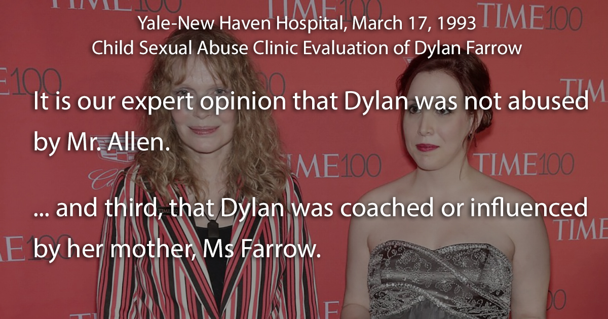 Dylan Farrow sexual abuse allegation: Yale-New Haven evaluation report