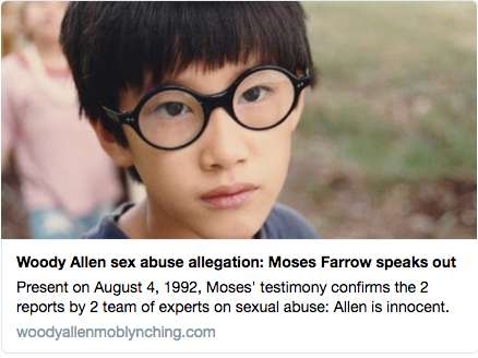 "Twitter Card for Moses Farrow essay ""A SON SPEAKS OUT"""