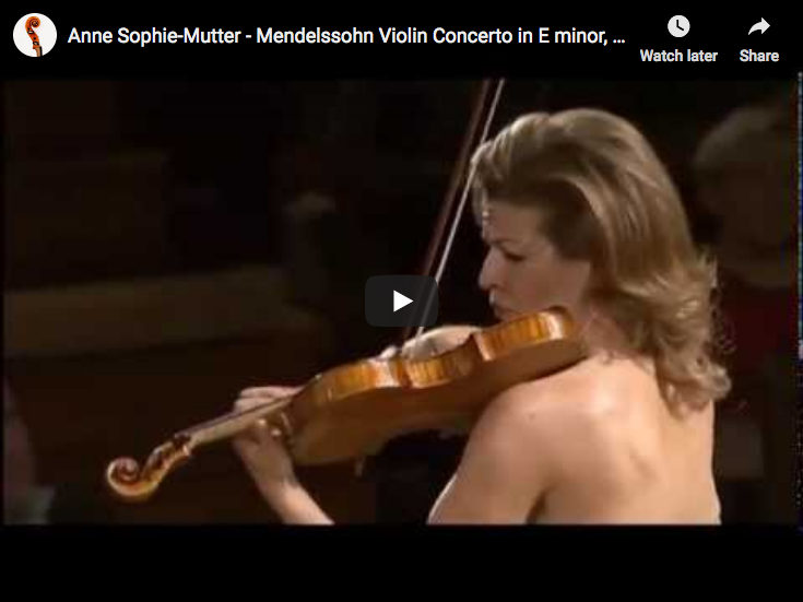 Mendelssohn - Violin Concerto in E Minor - Mutter, Violin