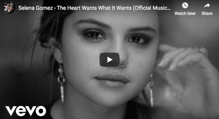 """Selena Gomez's signs """"The Heart Wants What It Wants"""""""