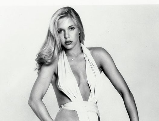 A modeling portfolio shot of Christina Engelhardt in 1977, the year after she began her relationship with Allen.