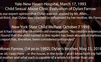 Excerpts from two investigations (Yale Haven and New-York Welfare) and Moses Farrow testimony who have cleared Woody Allen of Dylan Farrow's sexual abuse allegation