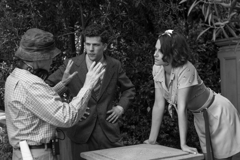 Woody Allen, Jesse Eisenberg, Kristen Stewart
