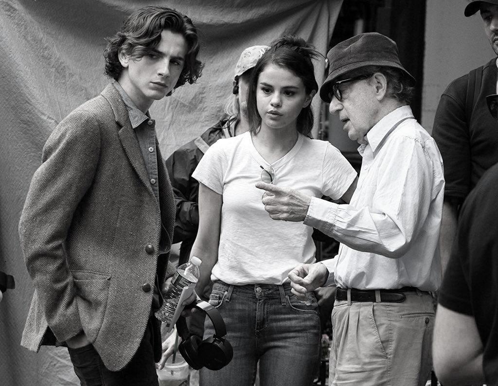 Timothée Chalamet, Selena Gomez, Woody Allen