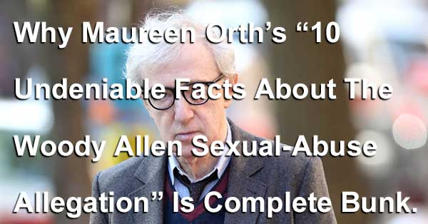 Maureen Orth's 10 Undeniable Facts Is Complete Bunk
