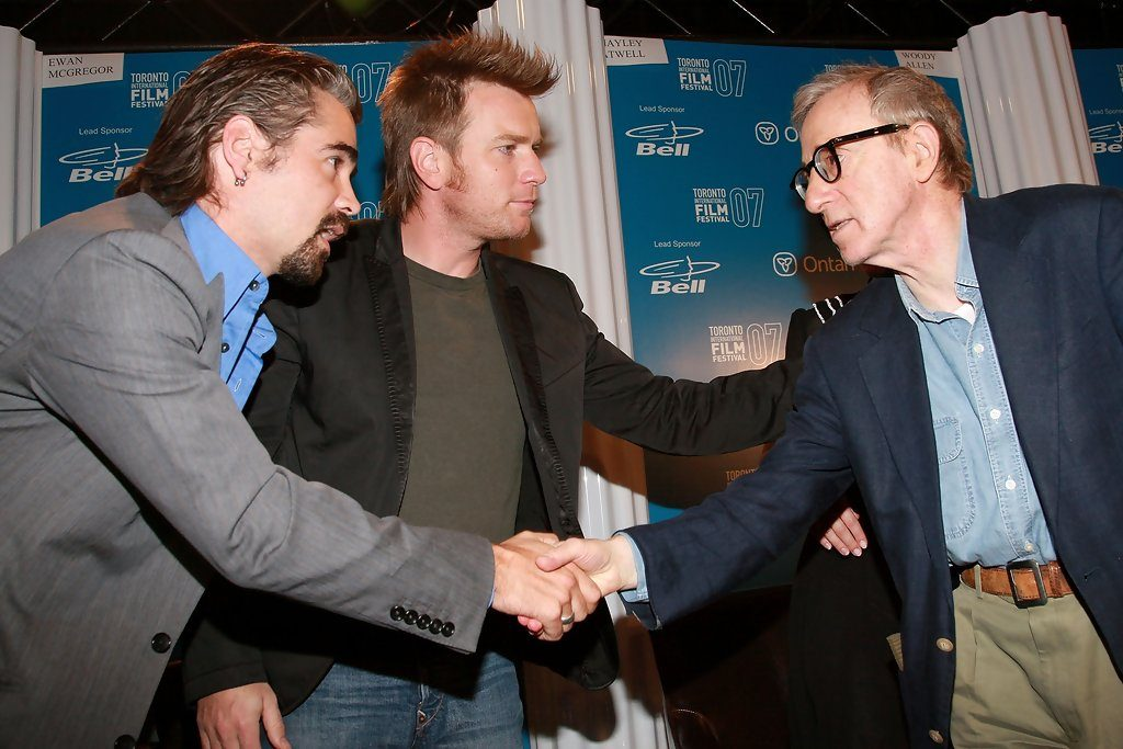 Colin Farell, Evan McGregor, Woody Allen at press conference for Cassandra's Dream