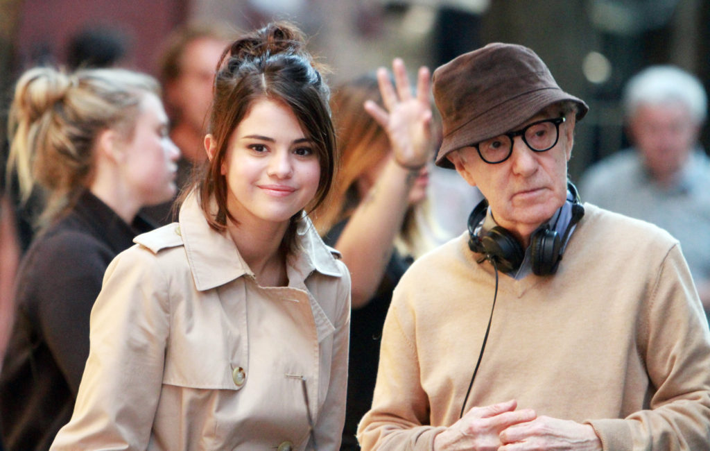 Selena Gomez, Woody Allen on the stage of A Rainy Day in New York
