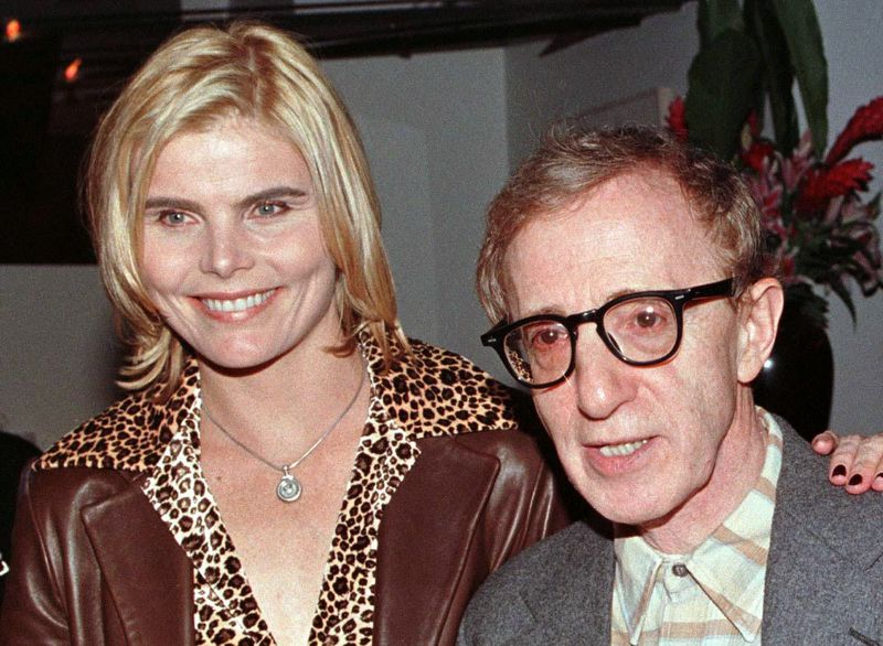 Mariel Hemingway and Woody Allen, many years after Manhattan.