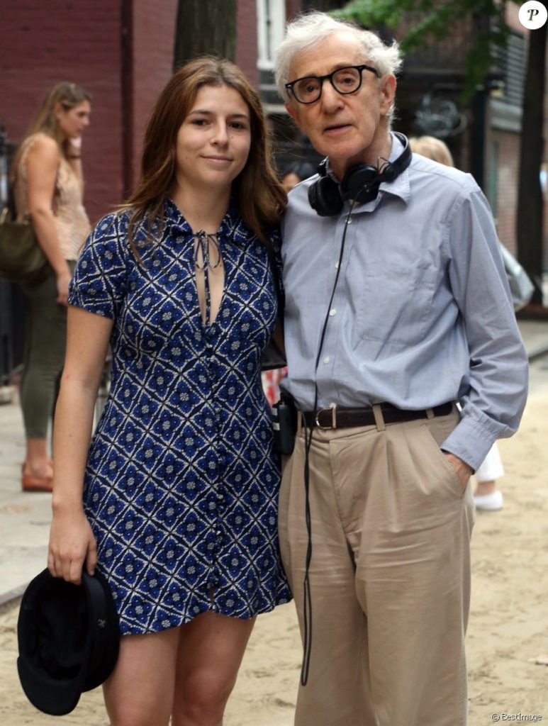 Manzie Tio and Woody Allen - Manzie is one of Woody Allen's two adopted daughters, the other one is Bechet Dumaine Allen.