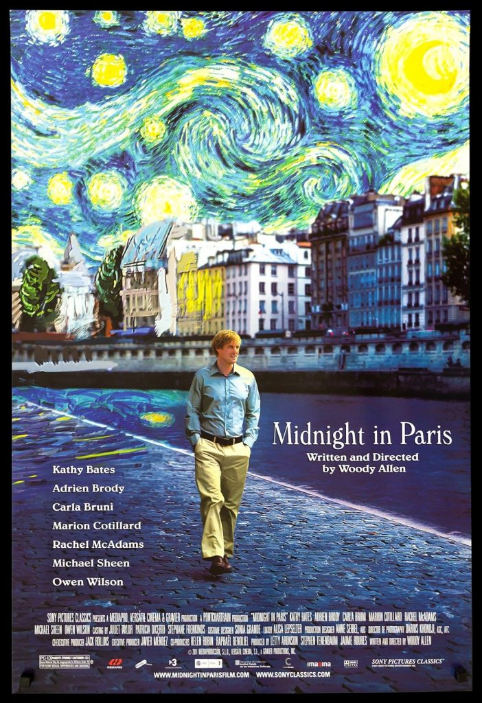 Midnight in Paris is a 2011 fantasy comedy film written and directed by Woody Allen. Set in Paris, the movie explores themes of nostalgia and modernism.