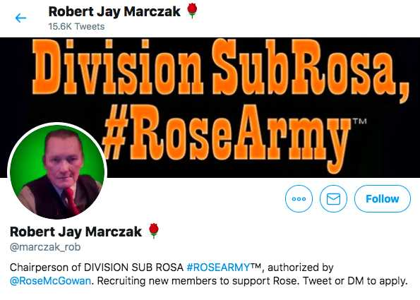 Robert Jay Marczak's Twitter account - Chairperson of DIVISION SUB ROSA