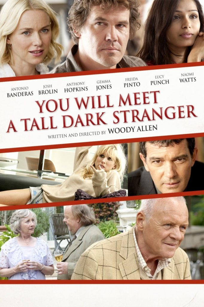 "Poster for the Woody Allen movie ""You Will Meet A Tall Dark Stranger"""