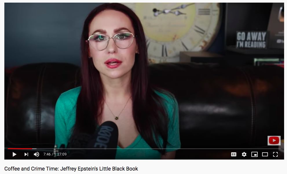 Stephanie Harlowe - Coffee and Crime Time Screenshot - Epstein Little Black Book