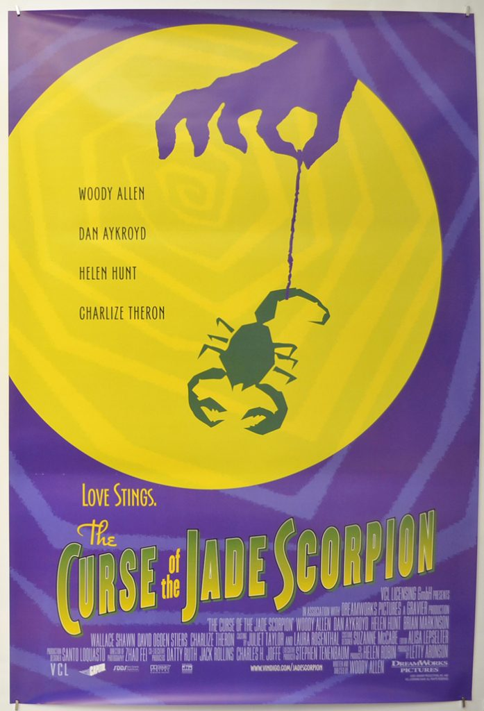 Poster for Woody Allen's movie, The Curse of the Jade Scorpion