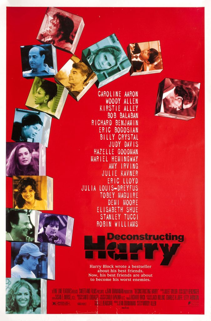 Poster for Woody Allen's movie Deconstructing Harry