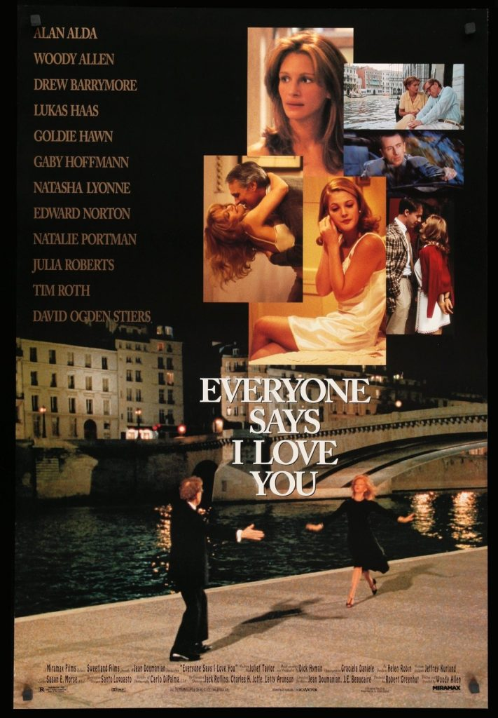 Poster for Woody Allen's movie Everyone Says I Love You