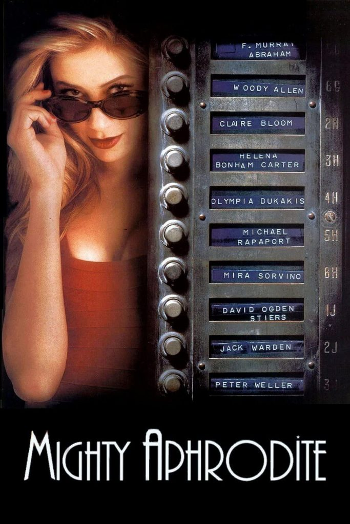 Poster for Woody Allen's movie Mighty Aphrodite