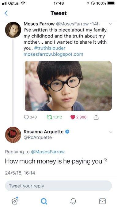 Rosanna Arquette attack Moses Farrow