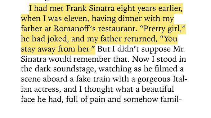 Mia Farrow met Frank Sinatra when she was 11 years old