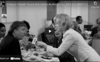 """Donald Trump in Woody Allen's movie """"Celebrity"""""""