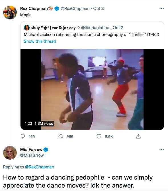 Mia Farrow calls Michael Jackson a pedophile